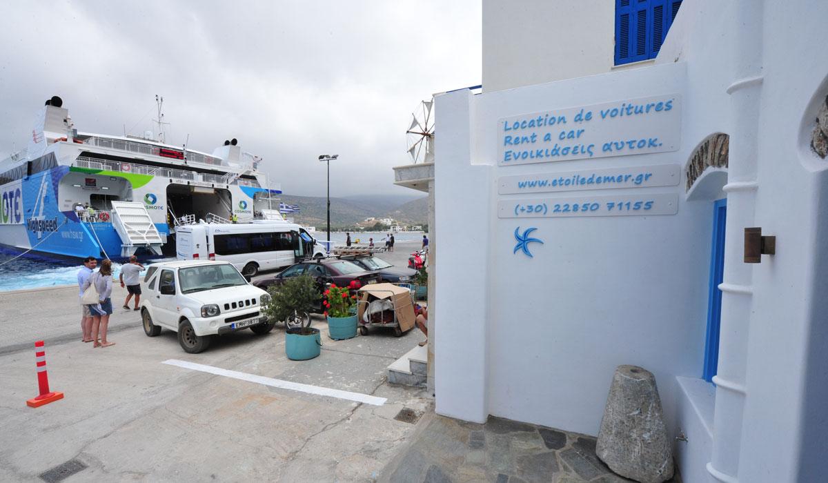 Louer une voiture à Katapola Amorgos